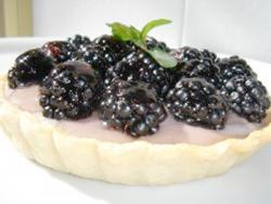 выпечка в микроволновке: пирог с ежевикой