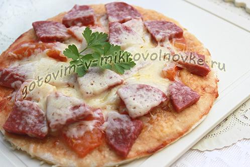 Пошаговый рецепт с фото приготовления пиццы без дрожжей