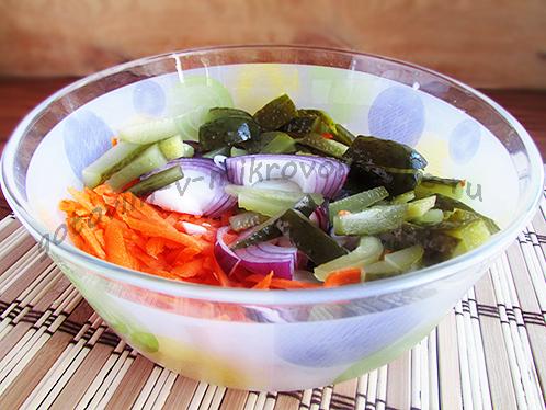 овощи для сборной с колбасой