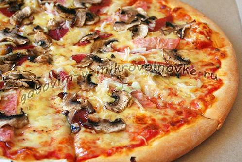Пицца из готовых коржей за 5 минут