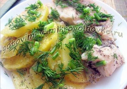 Как приготовить курицу (куриное филе) с картошкой