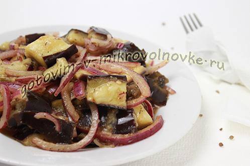 Рецепт баклажанов с чесноком и луком