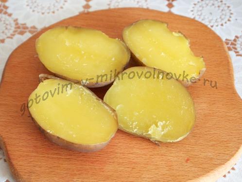 картофель разрезать
