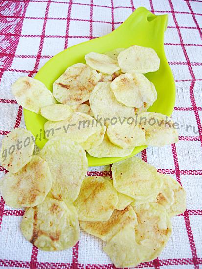 вкусные картофельные чипсы из микроволновки