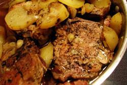 свинина с картошкой в микроволновке