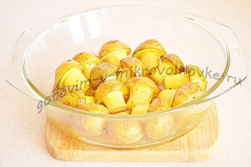 приготовить картошку в микроволновке