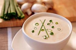грибной суп в микроволновке
