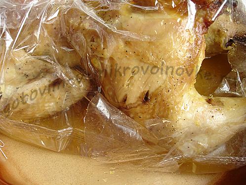 готовая курица в рукаве
