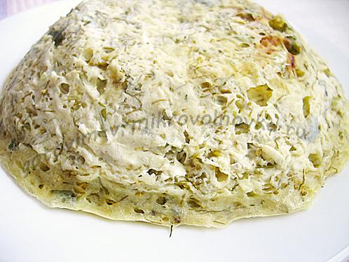 творожная с брокколи запеканка в микроволновке готова