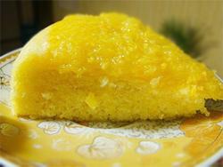 апельсиновый кекс с апельсиновой глазурью