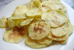 домашние чипсы в микроволновке готовы