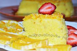 вкусный кекс за 5 минут в микроволновке