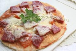 пицца без дрожжей рецепт с фото пошагово