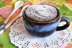 шоколадный кекс за 5 минут в микроволновке готов