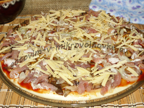 свинину и натереть сыр
