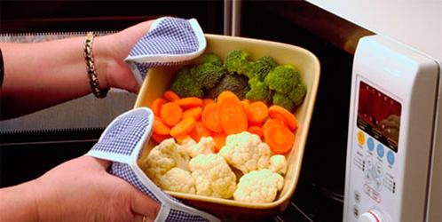 правила пользования микроволновкой при приготовлении блюд