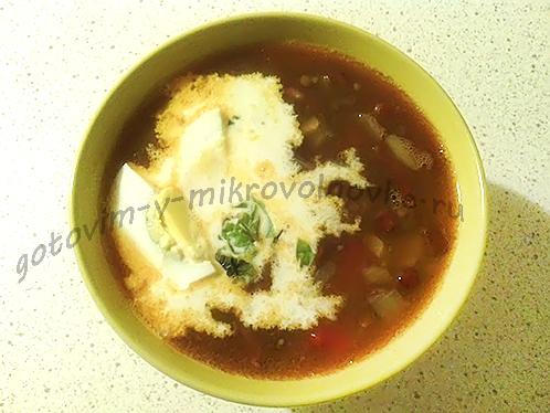 суп из чечевицы с копченостями