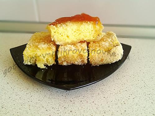 творожный пирог в микроволновке