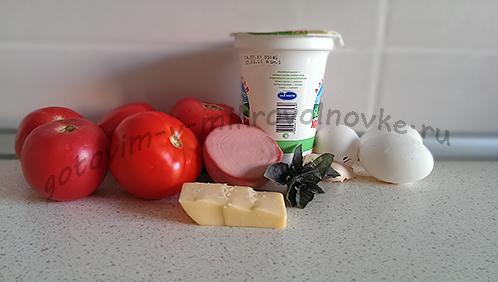 ингредиенты для запеченного в микроволновке яйца