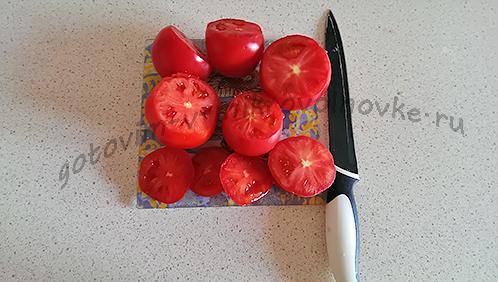 срезать шляпки у помидор