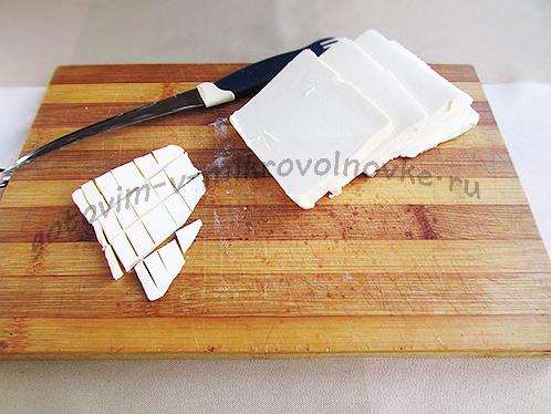 порезать маргарин