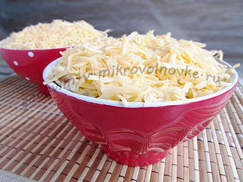покрыть натертым сыром