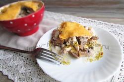 жульен с курицей и грибами пошаговый рецепт