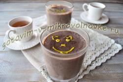шоколадный пудинг с пошаговыми фото