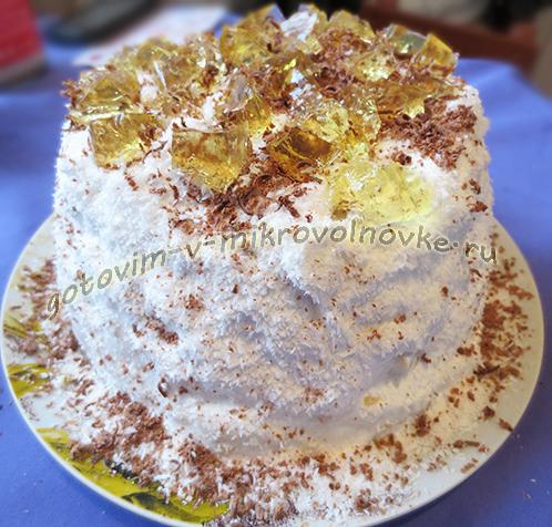легкий рецепт торта в микроволновке
