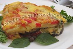 овощная запеканка с баклажанами и помидорами