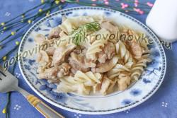 макароны с тушенкой рецепт с фото