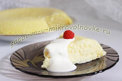 Торт-запеканка из тыквы в микроволновке.