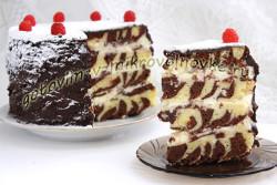 торт зебра в микроволновке